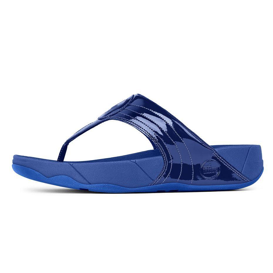 Fitflop WALKSTAR™ III PATENT ELECTRIC BLUE #fitflop #sandals #walkstar