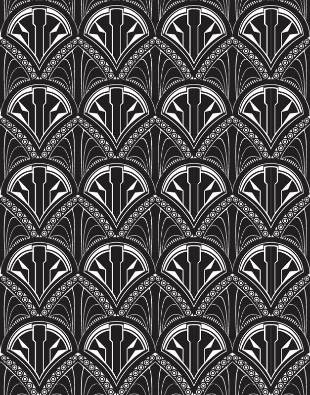 art deco wallpaper black and white google search art