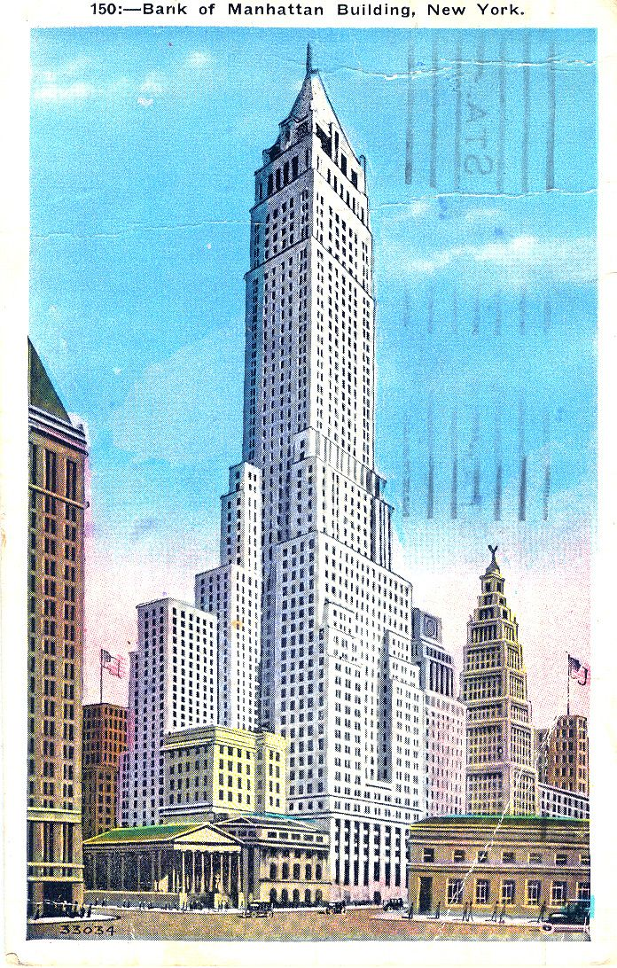Bank of Manhattan New York City New york city buildings