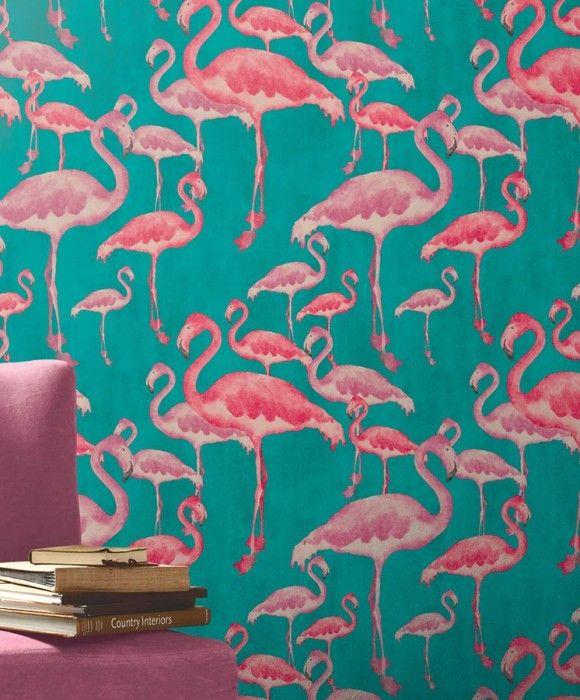 Amidala les ann es 70 ann es 70 et papier peint - Tapisserie flamant rose ...
