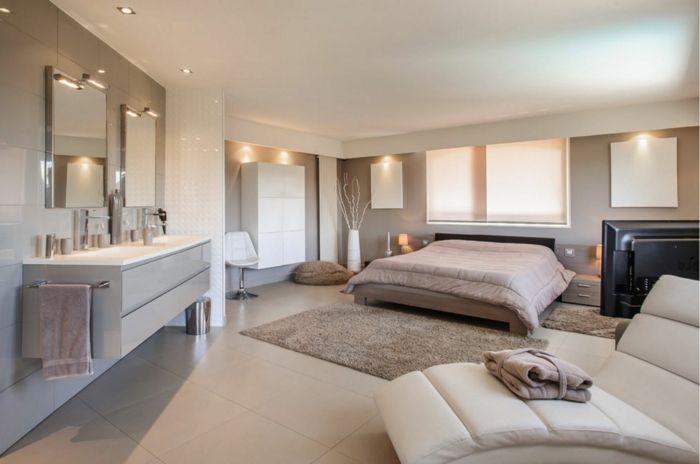 1001 ideas de decoraci n de habitaciones modernas for Alfombras dormitorio modernas