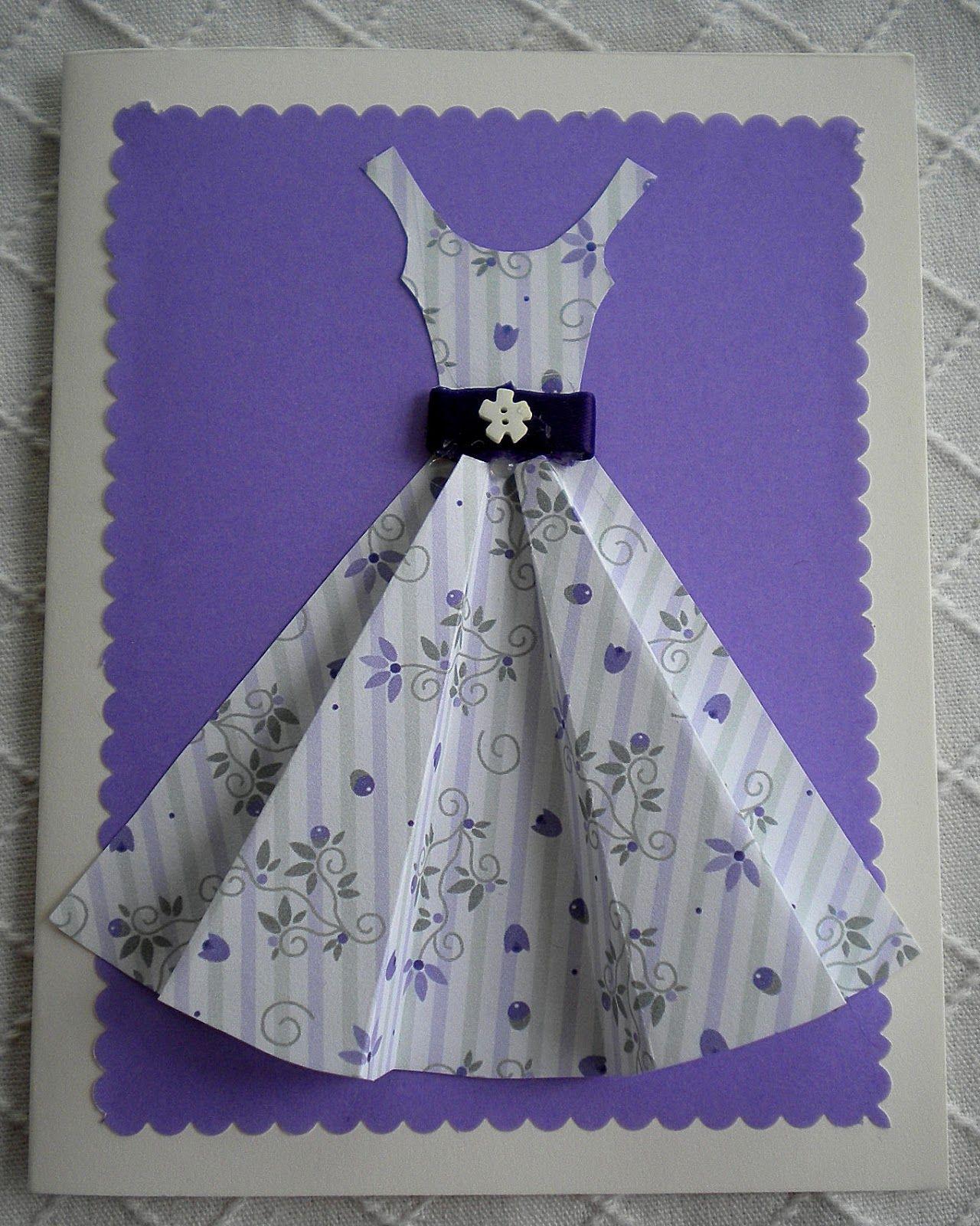 Открытка платье своими руками пошаговая инструкция