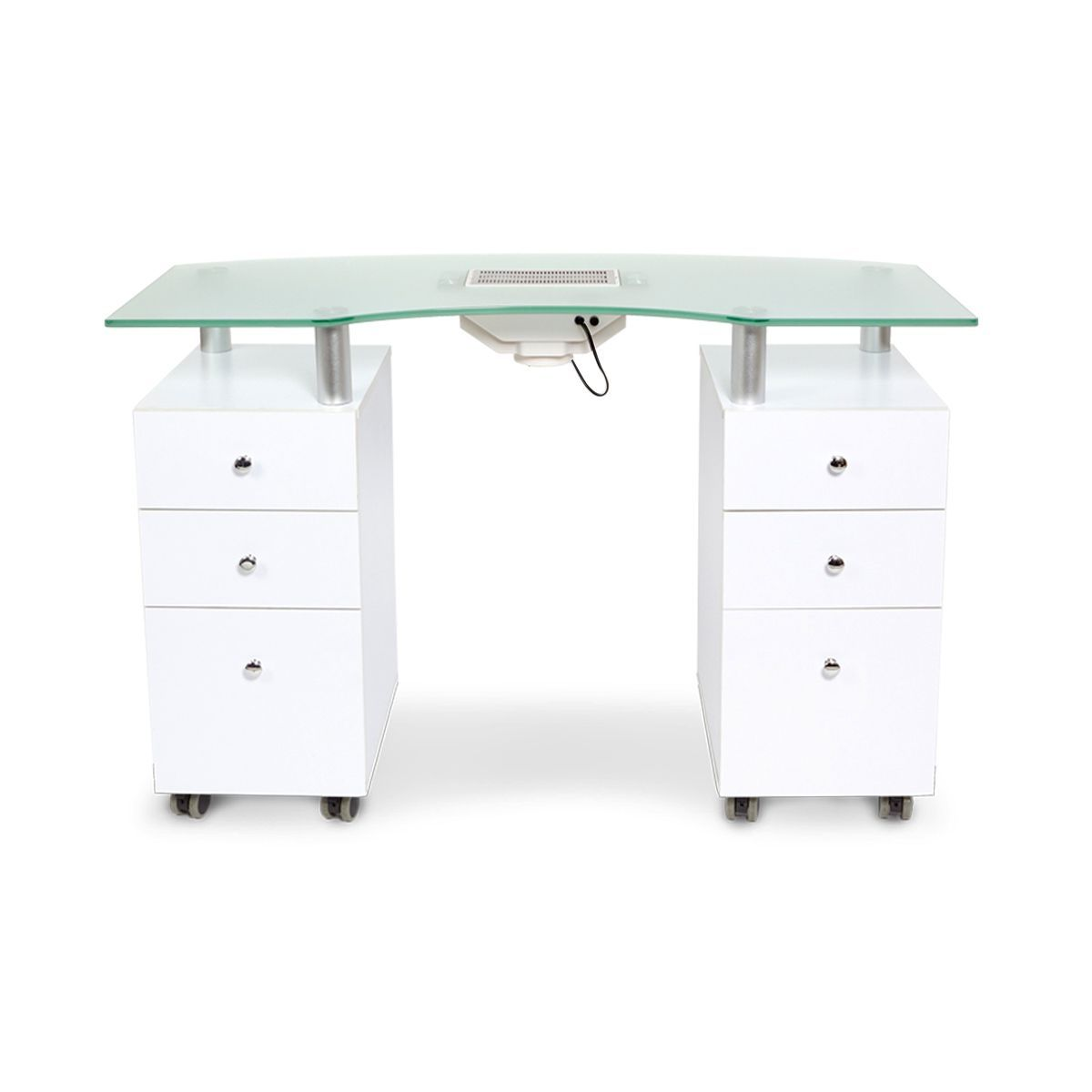 J A Glass Top Manicure Nail Tables Station With Fan Vent White Maple Walnut Wood Manicure Table Nail Salon Design Home Nail Salon