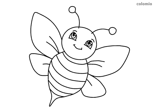 Simple Bee Coloring Page In 2020 Bee Coloring Pages Animal Coloring Pages Farm Animal Coloring Pages