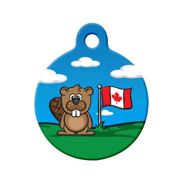 Proud Canadian Beaver Dog Tag Show Your Love For Canada With This
