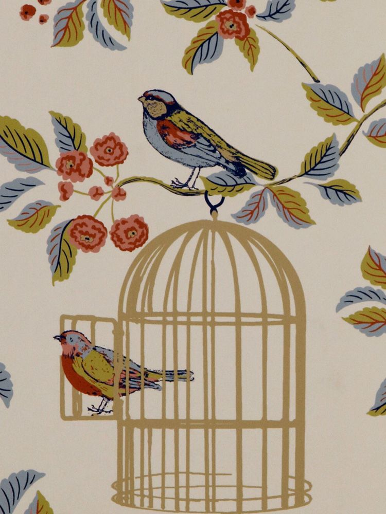Vintage Wallpaper For Sale Vintage Charm Blue Bird Cage Wallpaper Bird Wallpaper Uk Bird Wallpaper Birdcage Wallpaper Wallpaper