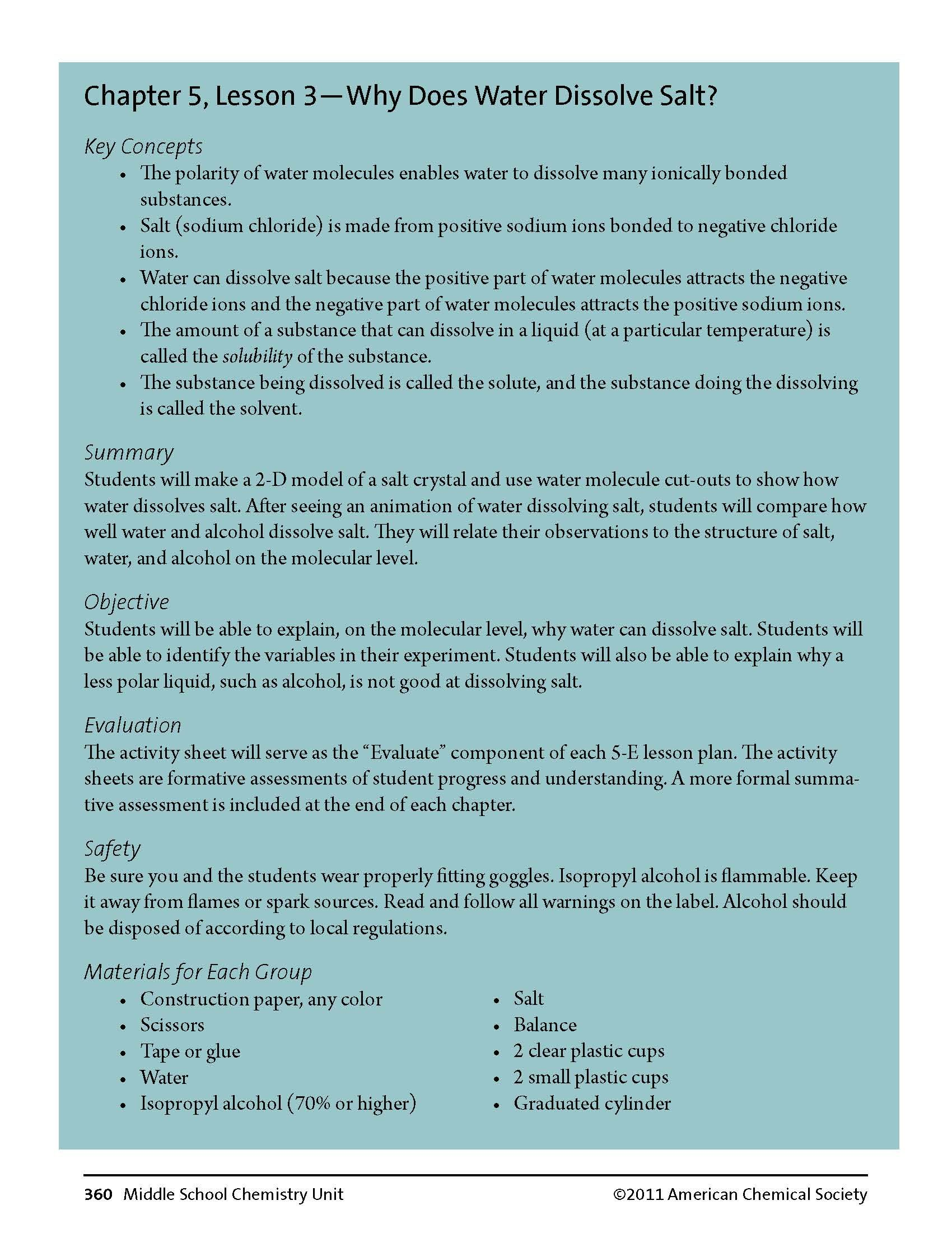 A free lessonplan for your middleschool chemistry classroom a lesson plan from middle school chemistry biocorpaavc