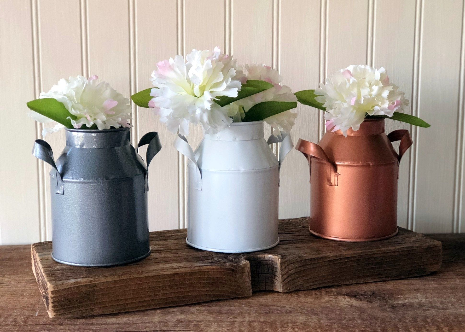 Farmhouse Milk Cans, French Country decor, country decor