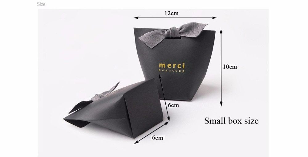 5PCS Paper Gift Party Bags Carry Bag Wedding Jewellery Birthday Small Grey
