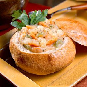 Hearty potato soup.