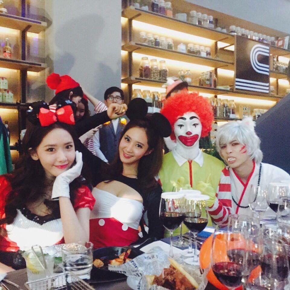 151029 SMTOWN WONDERLAND Halloween Party : Yoona , Yuri SNSD ...