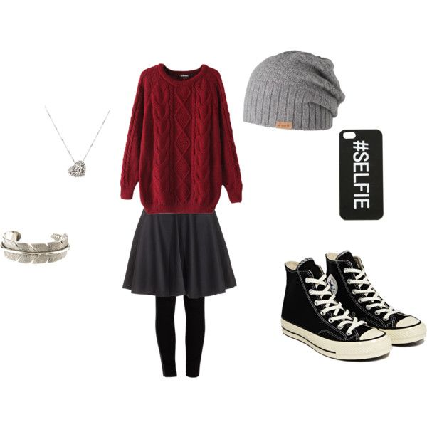 Winter by happyperson-me on Polyvore featuring Chicnova Fashion, Joie, Pieces, Converse, Rina Limor, Yves Saint Laurent and Barts