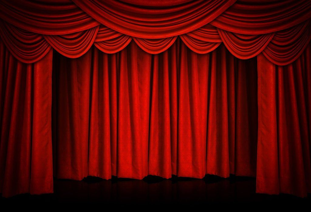 Red Curtain Stage Backdrop for Events Dance or Theater
