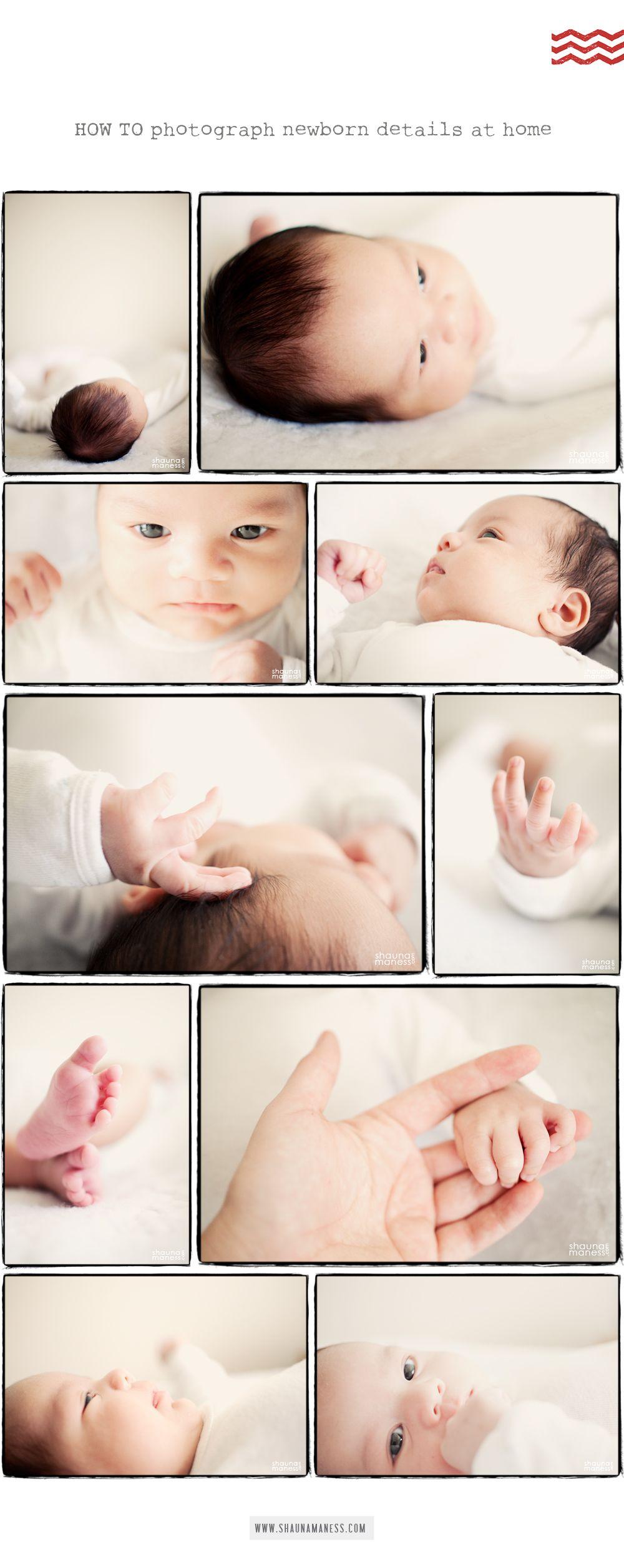How to photograph newborn details
