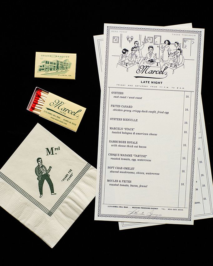 Restaurant Marcel menu | Art of the Menu Highlights | Food