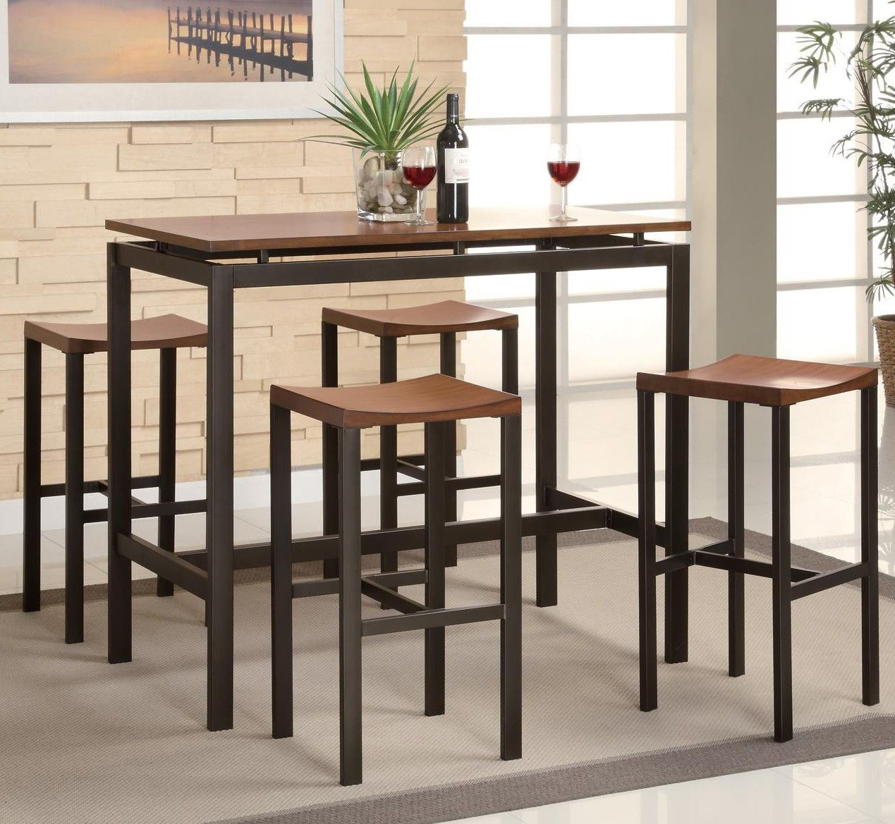 Daryl 5 Piece Counter Height Pub Table Set