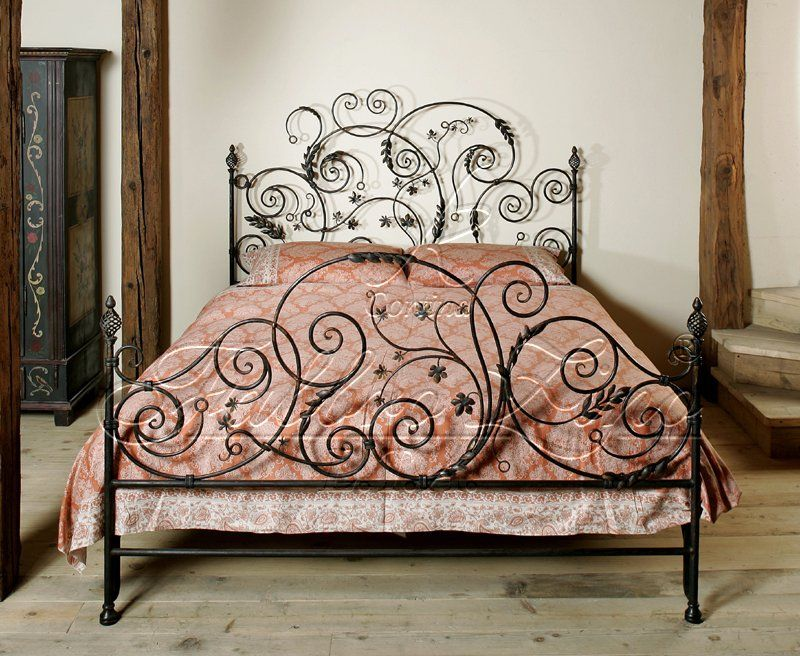 Beds Made Of Wrought Iron Forged And Painted By Hand Iron