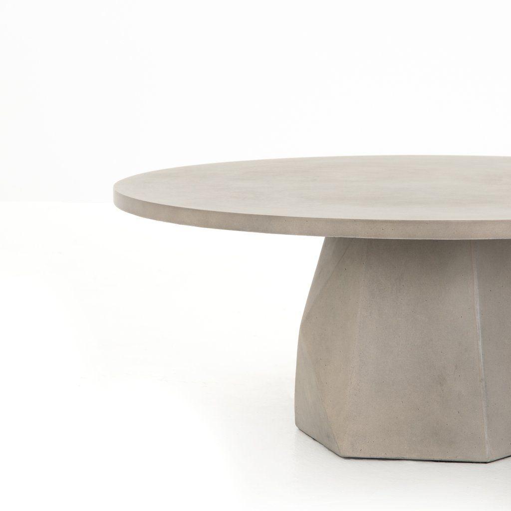 Bowman Coffee Table Concrete Coffee Table Outdoor Coffee Tables Round Concrete Dining Table [ 1024 x 1024 Pixel ]