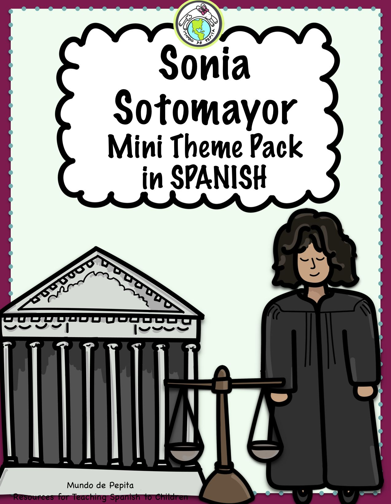 Sonia Sotomayor Mini Book Amp Theme Pack In Spanish