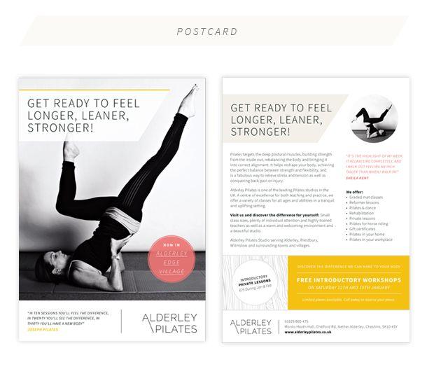 Flyer 4 ALDERLY PILATES by The flourish studio Design - yoga flyer