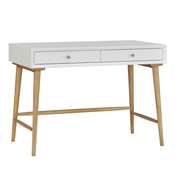 Athey Solid Wood Desk White Writing Desk Furniture Solid Wood Desk