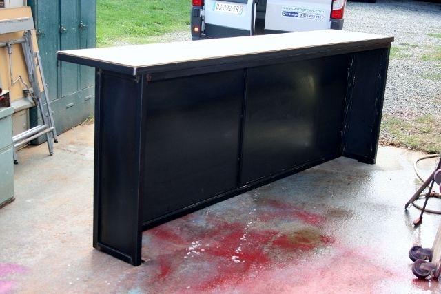 comptoir bar sur mesure industriel bar pinterest comptoir bar comptoir et sur mesure. Black Bedroom Furniture Sets. Home Design Ideas
