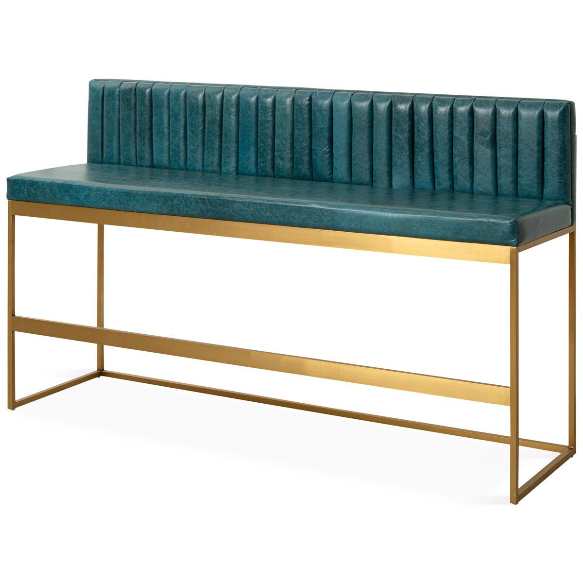 007 Bar Height Bench With Channel Tufting Bar Height Bench Modern Bench Design Counter Height Bench