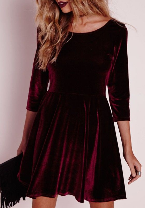 45e1822d6 We can t wait to get our hands on this wine red velvet dress