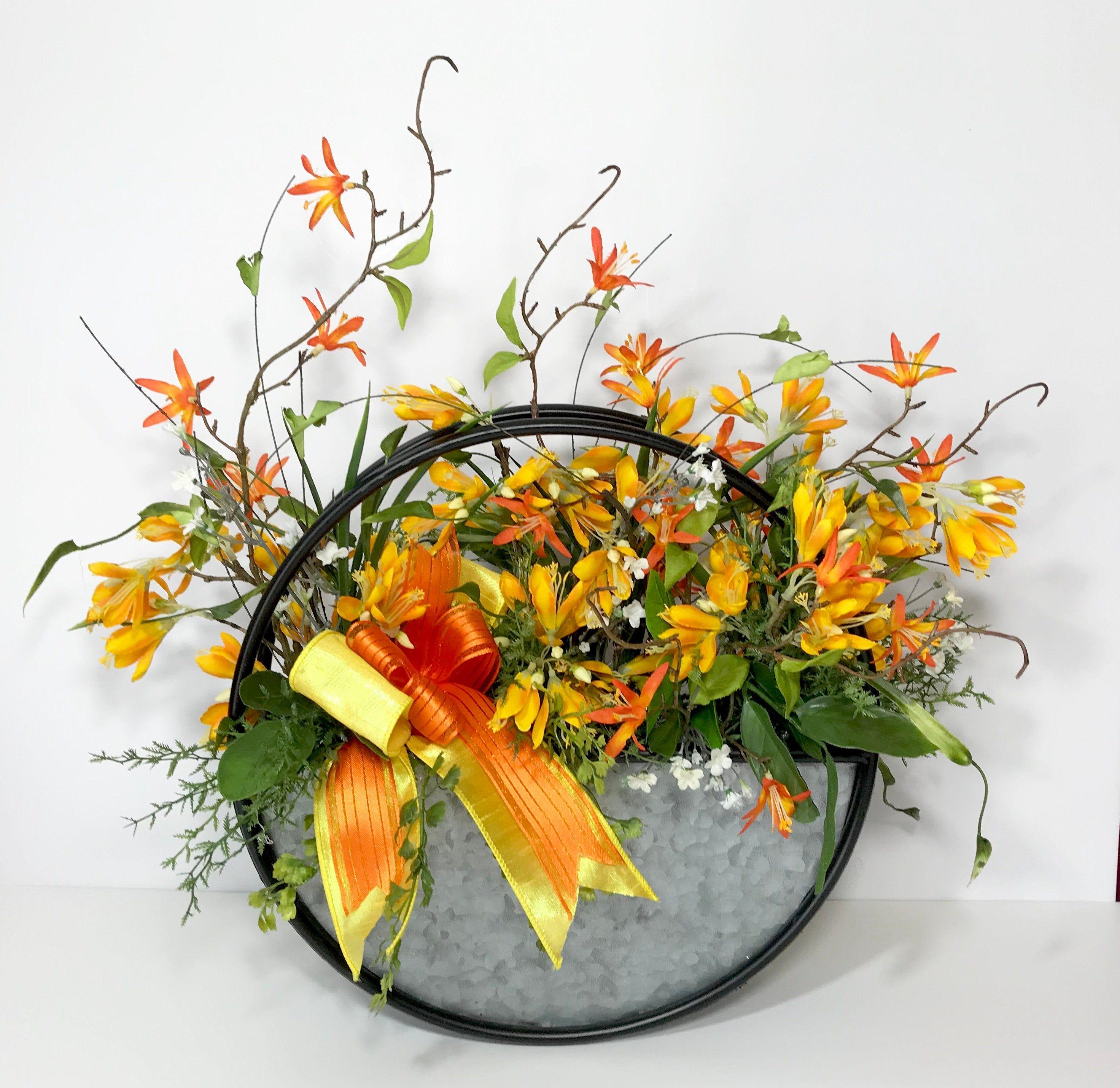 10 Unique Small Kitchen Design Ideas: Art Metal Large Centerpiece, Wall Hanger, Summer Flowers