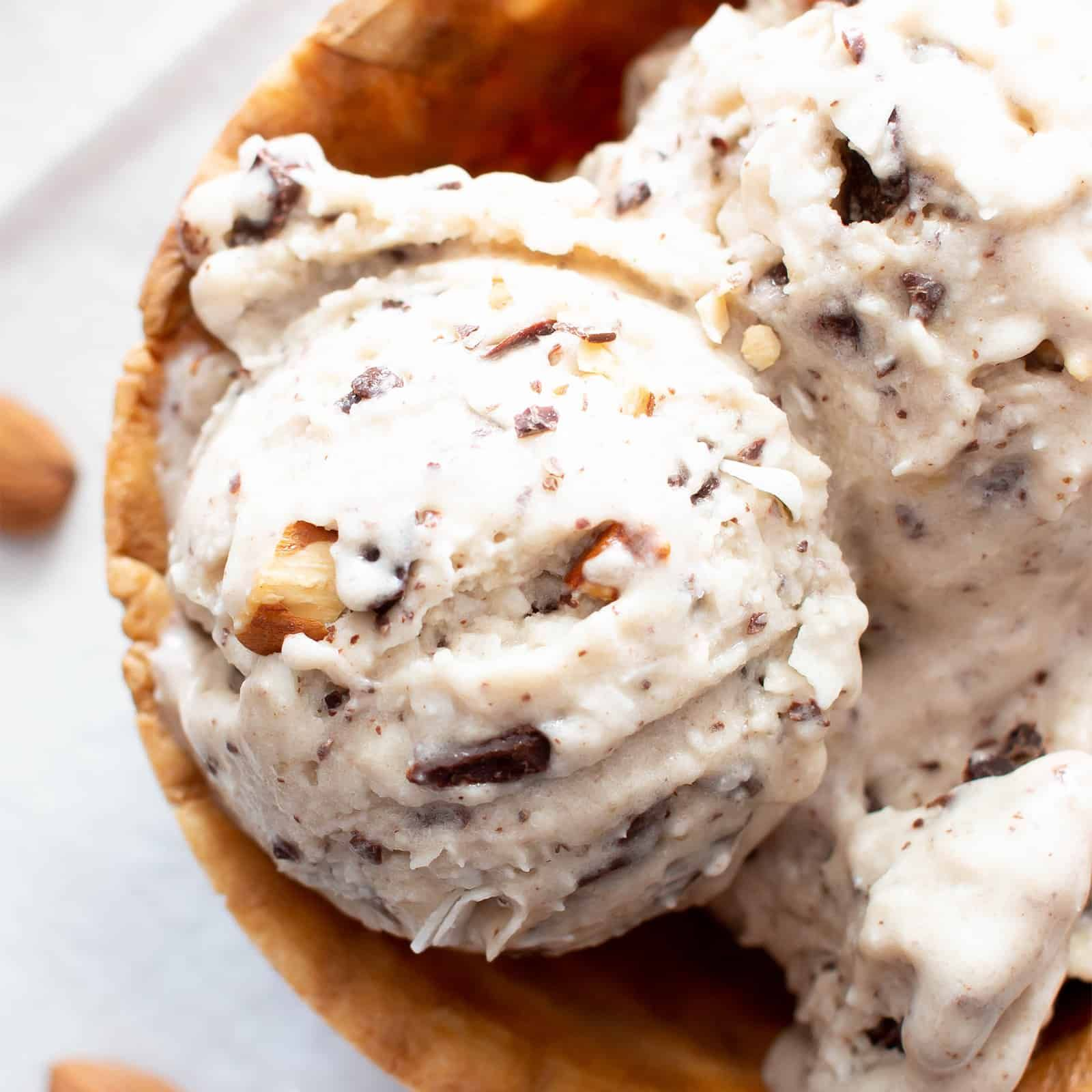 Almond Joy Vegan Paleo Ice Cream Recipe Refined Sugar Free