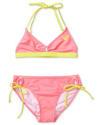 fe3432024f Roxy Kids Swimwear, Girls Surfer Two-Piece Swimsuit - Kids Girls 7-16 -  Macy's