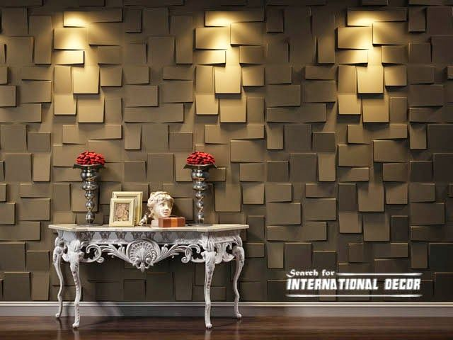 decorative wall panels in the interior latest trends - Decorative Wall Panels
