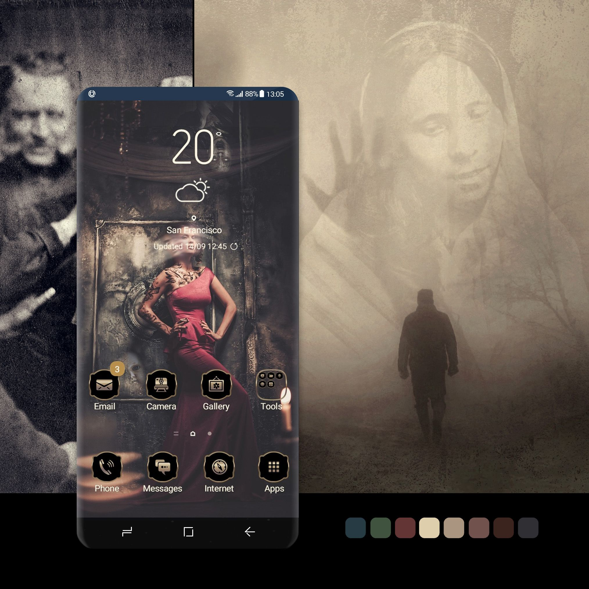 Delirium theme wallpaper, android, phone, smartphone