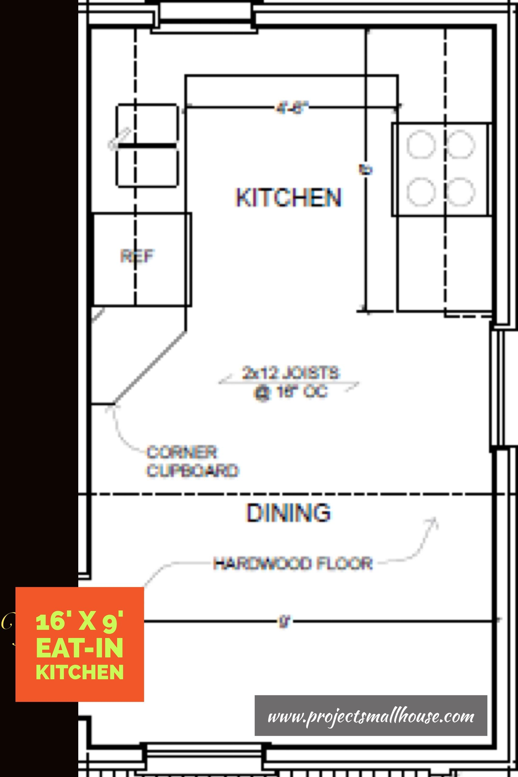 eat in kitchen floor plans two story 16 x 32 virginia farmhouse house plans with images kitchen layout plans house 1425