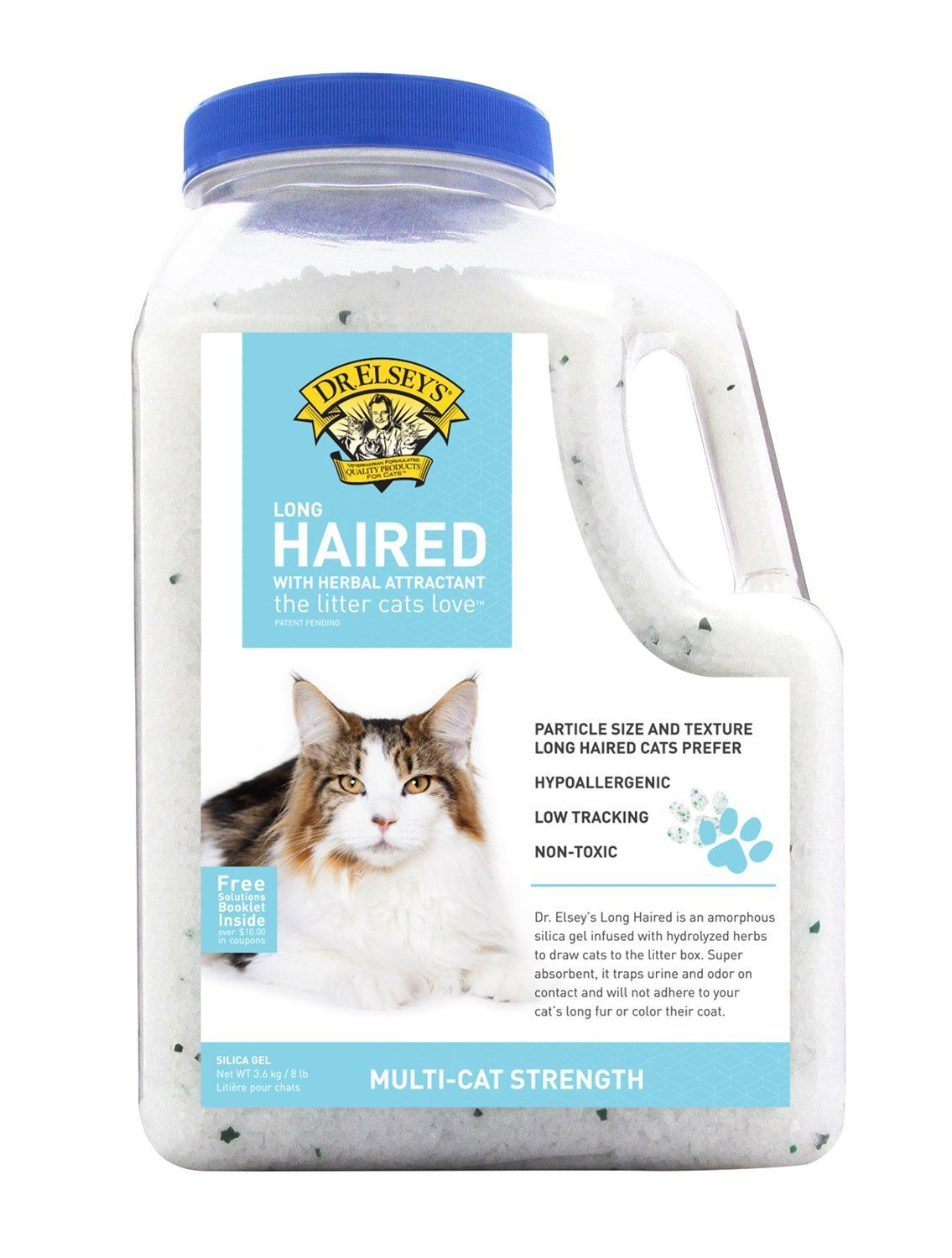 Precious Cat Dr. Elsey's Long Haired Cat Litter, 8 lbs