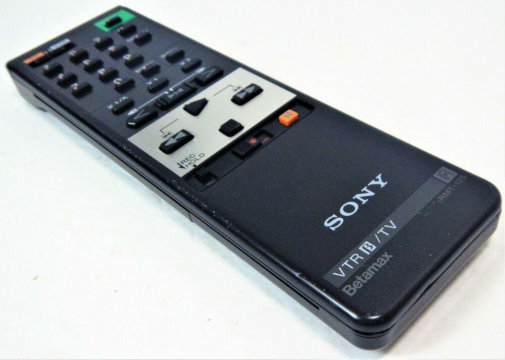 Sony Rmt 125 Betamax Vtr B Vcr Tv Remote Control Beta Tested Works Sony Sonybetamax Betamax Betamaxremote Tv Remote Controls Remote Control Tv Remote