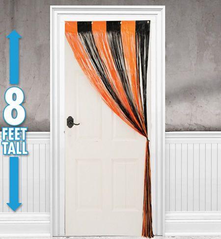 Halloween Fringe Doorway Curtain 96in Plastic Door Curtain   $5.99