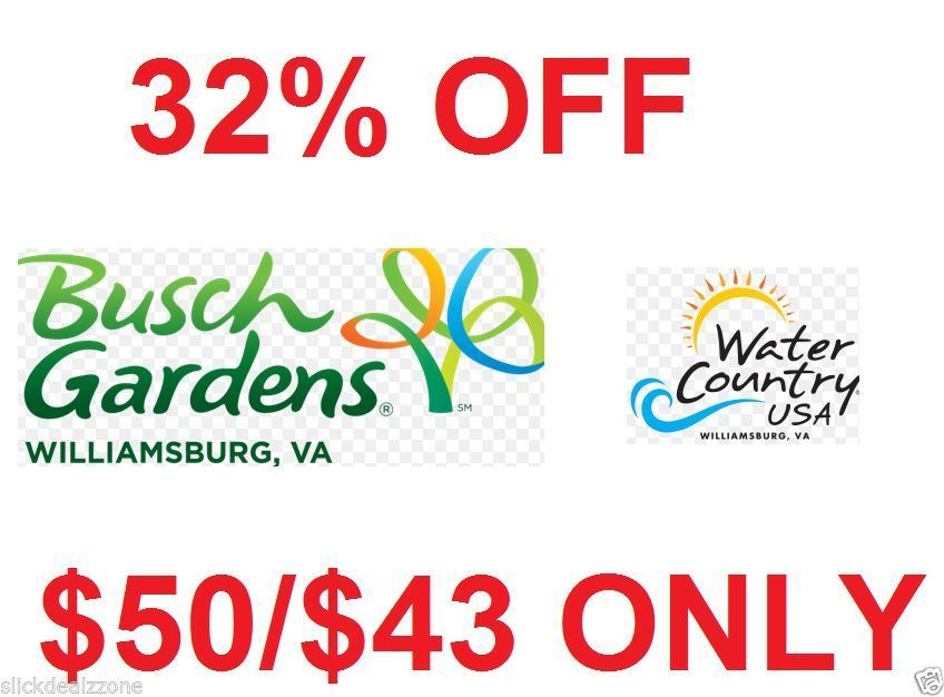 Busch gardens williamsburg va tickets coupon savings discount code