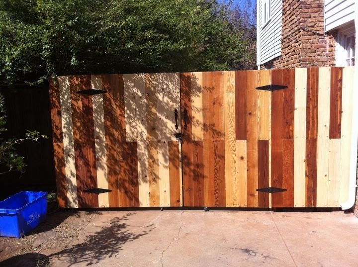 Decorative reclaimed wood front gate G Gallery OKC - Decorative Reclaimed Wood Front Gate G Gallery OKC G Gallery OKC