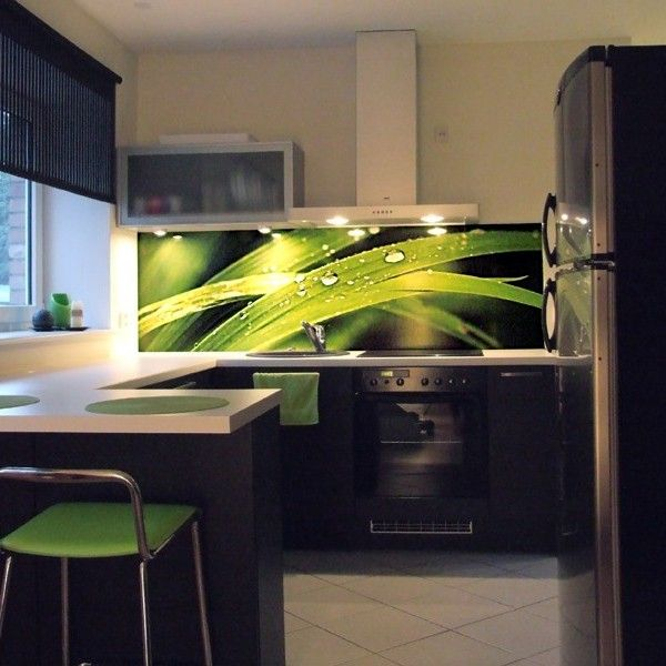 Grassblades kitchen Eyecatching stickers to redesign your home - küchen fliesenspiegel glas