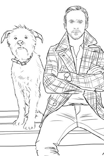 Ryan Gosling coloring book, i want this
