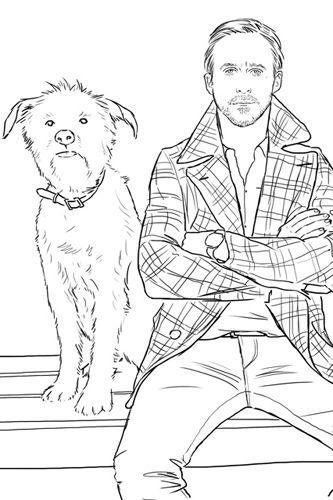 Ryan Gosling Coloring Book I Love Mel Coloring Books Coloring Pages Ryan Gosling