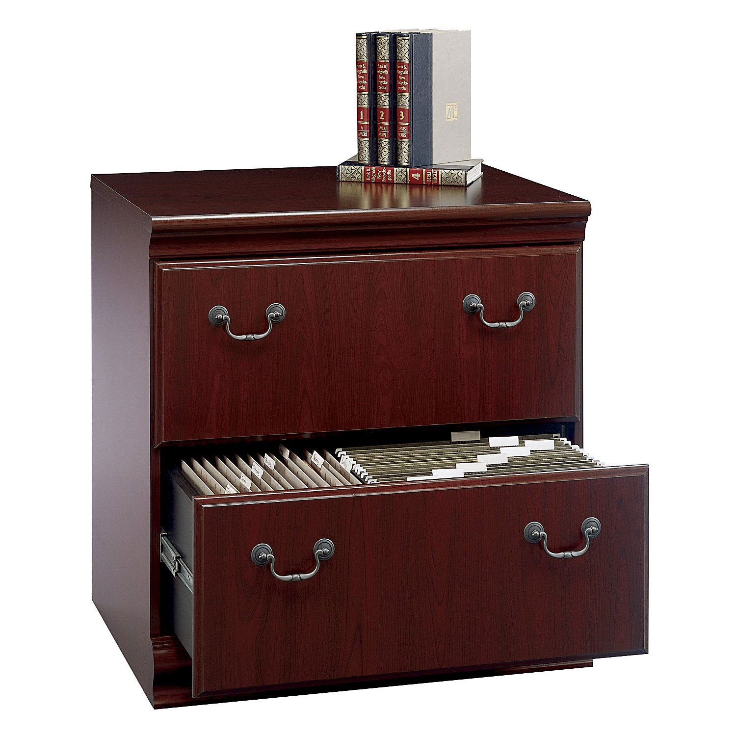 Harvest Cherry 2 Drawer Lateral File Cabinet