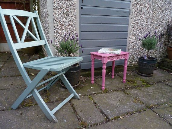 Beautiful side table with lovely little shapely by KatyRoseVintage, £50.00