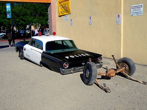 American Graffiti Cop Car By Lucky 13 Via Flickr With Images
