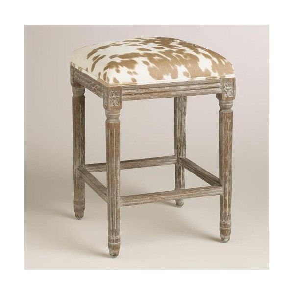 Cost Plus World Market Palomino Paige Backless Counter Stool 120 Liked On Polyvore