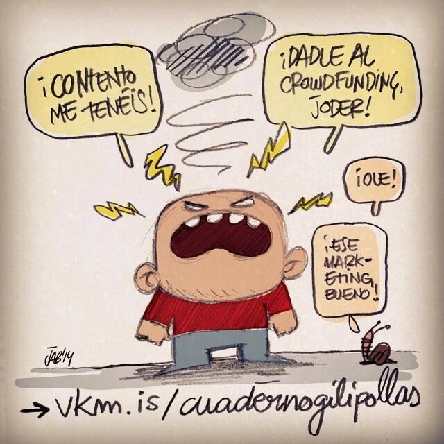 #COMIC #HUMOR #ILUSTRACION #CROWDFUNDING Primera edición fucksímil limitada y numerada de 500 ejemplares del primer cuaderno de chistes de El Niño Gilipollas que Quería Volar. Paradigma universal del humor imbécil: una mezcla explosiva de realidad, absurdo y cultura popular. http://www.verkami.com/projects/9097-cuaderno-gilipollas-1-edicion-fucksimil Crowdfunding verkami