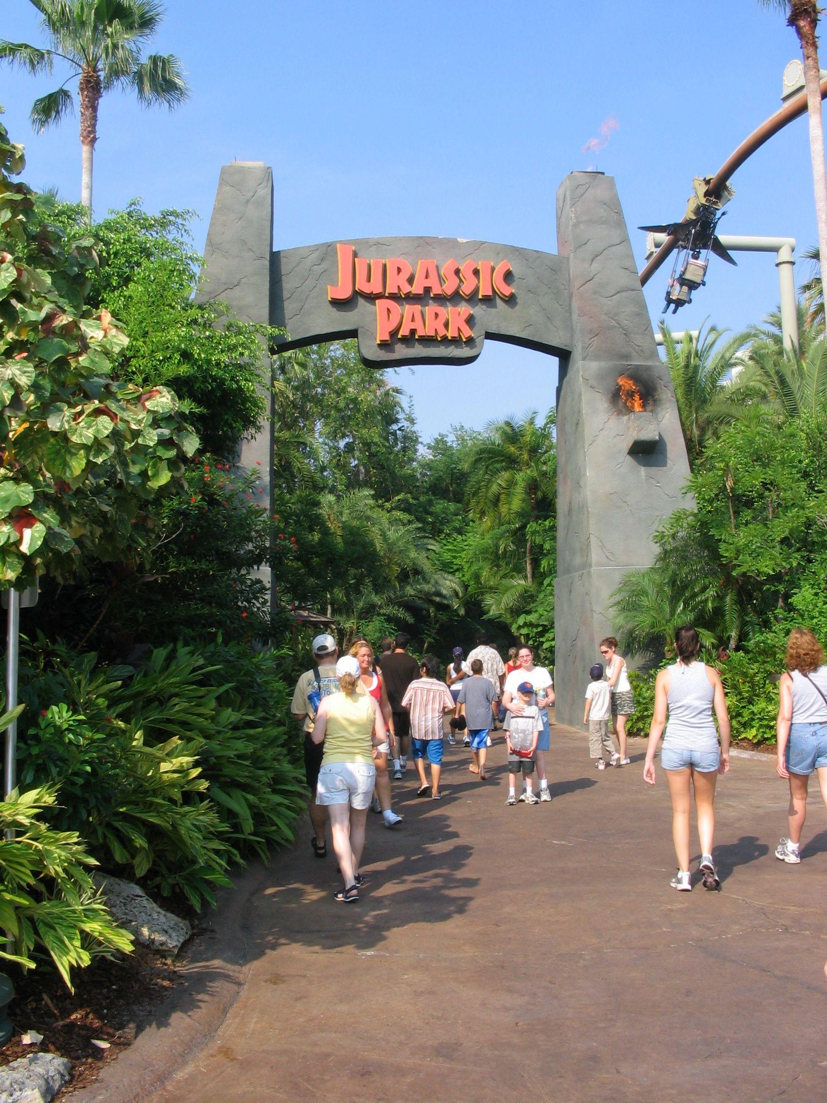 Jurassic Park At Universal Studios Theme Part In Orlando Fl Pics