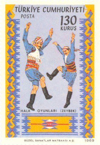 1969 Turkey  -  Zeybek folk dance, the harvest dance