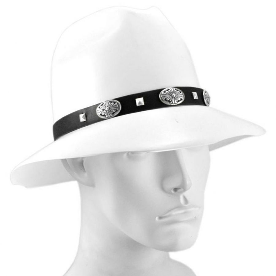 7c3d3b496 Village Hat Shop Stud Conch Hat Band - Black/Silver | mens ...